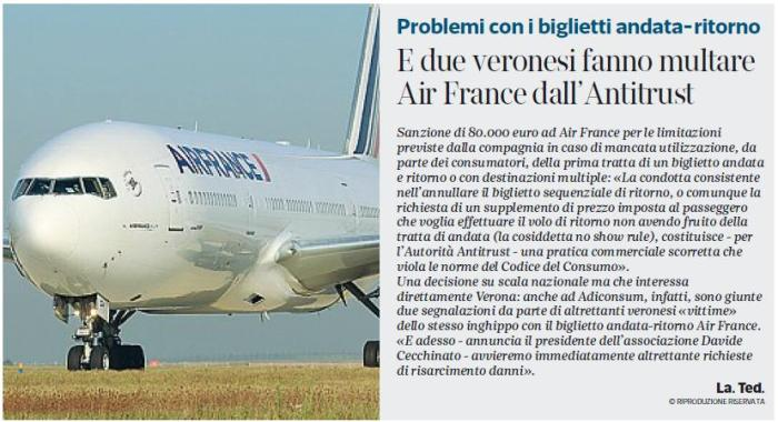 Corriere_Veneto_23_01_15_pag_9_multa_AirFrance