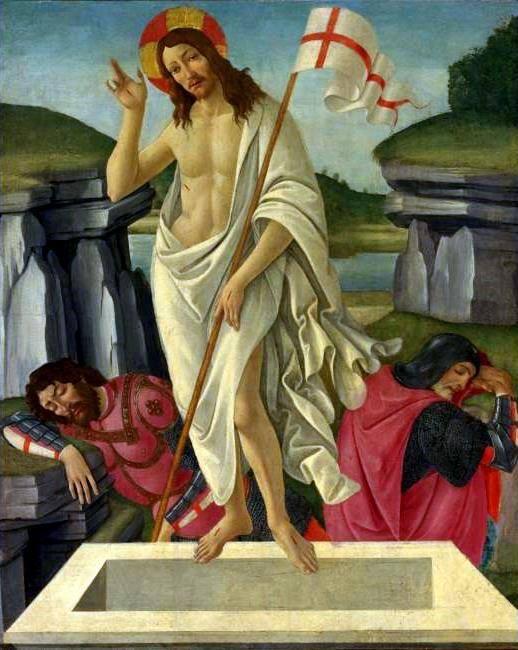 Sandro Botticelli Resurrezione c.1490 Beaverbrook Art Gallery